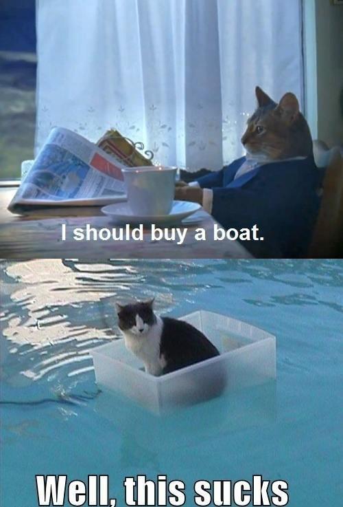 Bad idea. . dnn/ a boat. Well. this sucks. a spaceship wasnt such a good idea either Bad idea dnn/ a boat Well this sucks spaceship wasnt such good either