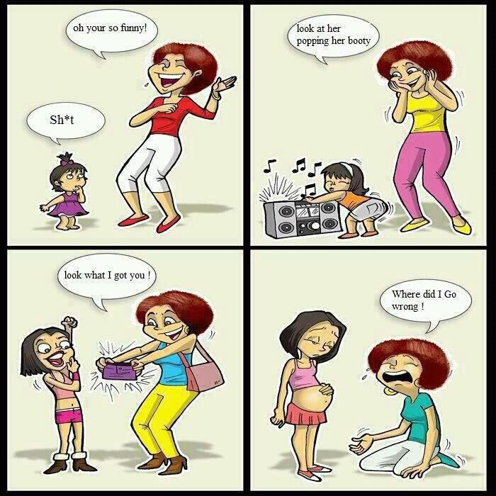 Bad parenting. mew.. Conception. bad parenting