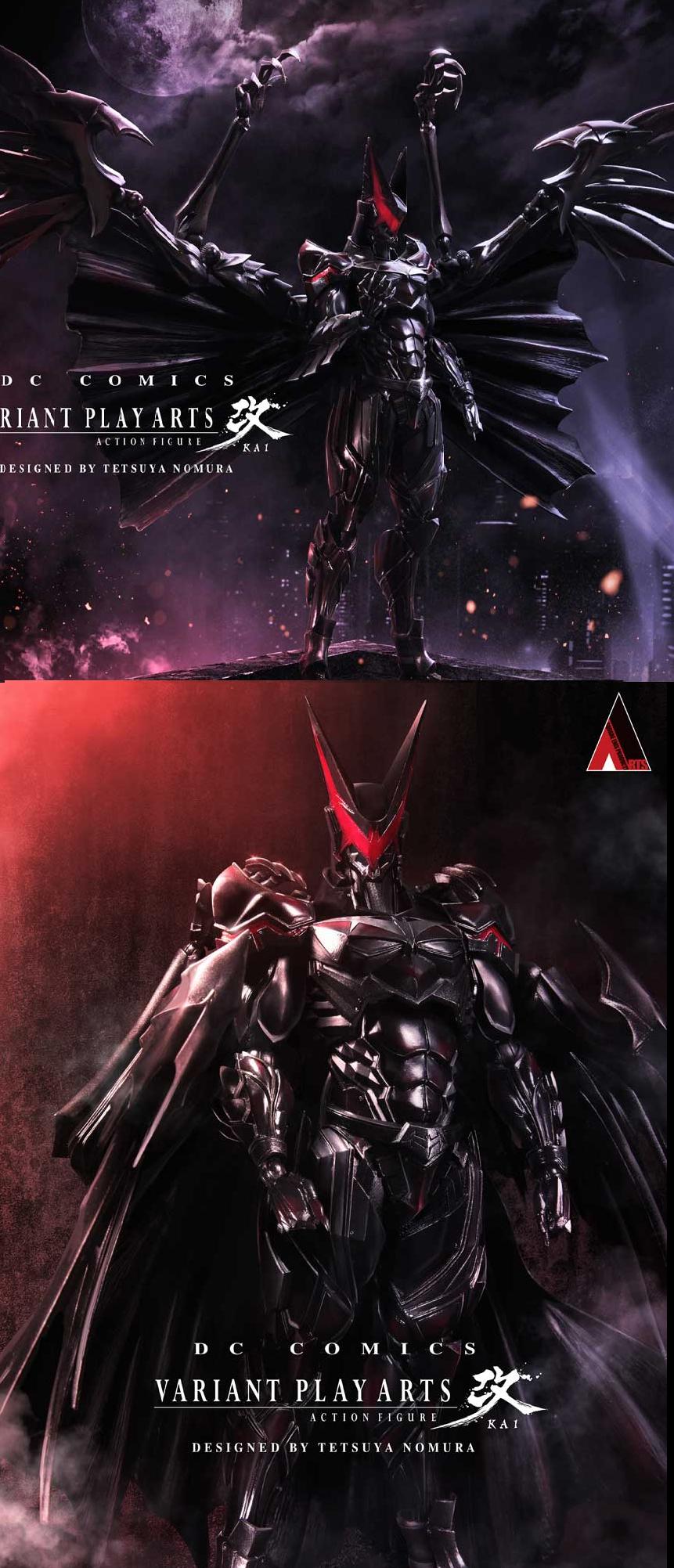 Badass Batman designed by Tetsuya Nomura. Tetsuya Nomura is the designer of Final fantasy.. This looks insane i need it Batman retoast c