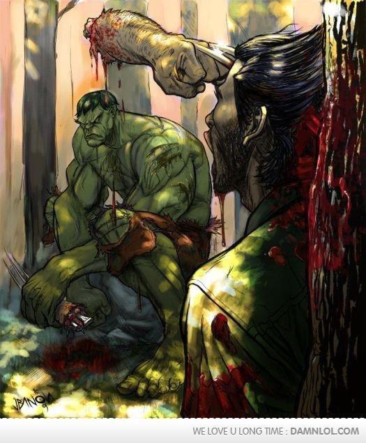 Badass. Wolverine has a bad headache but that's it.. Badass Wolverine has a bad headache but that's it