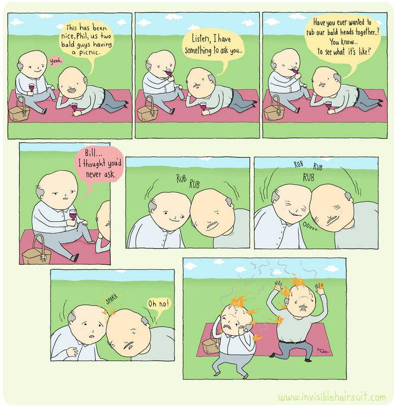 Bald people. I.....don't know. mg Lss Linn Human mar in bald Bugs buging '. l ' I 'fun timk. Bald fire omigosh