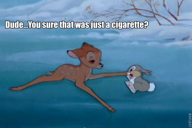 Bambi smoking some dank shit. Merry christmas!. four twenty blaze it faggot Bambi
