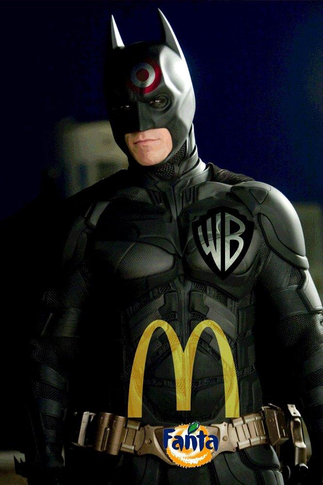 Batman has fallen on some hard times. Bruce lost a big bet and had to turn to marketing.....Found on Kotaku. God Damn batman
