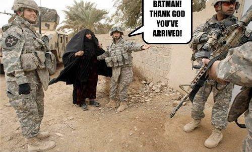 Batman. .. looks more like the penguin to me.... batman Army