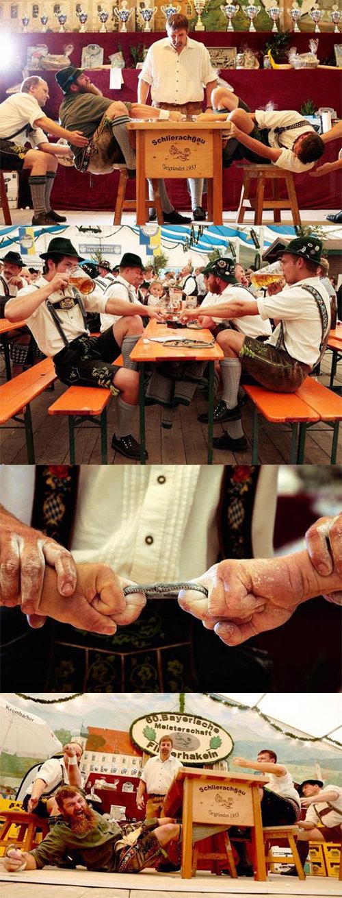 Bavarian Finger Wrestling. .. Aragorn, don't tell the elf I lost interesting Finger Wrestling