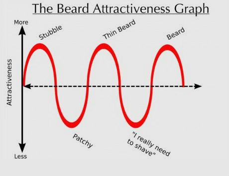 Beard attractiveness. . The Beard Attractiveness graph twerk twice