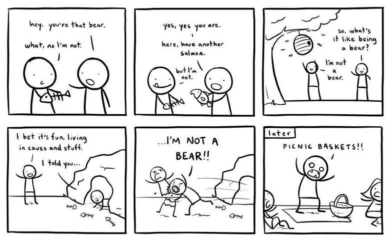 Being mistaken. xD. Bear lol funny comic kill madruga