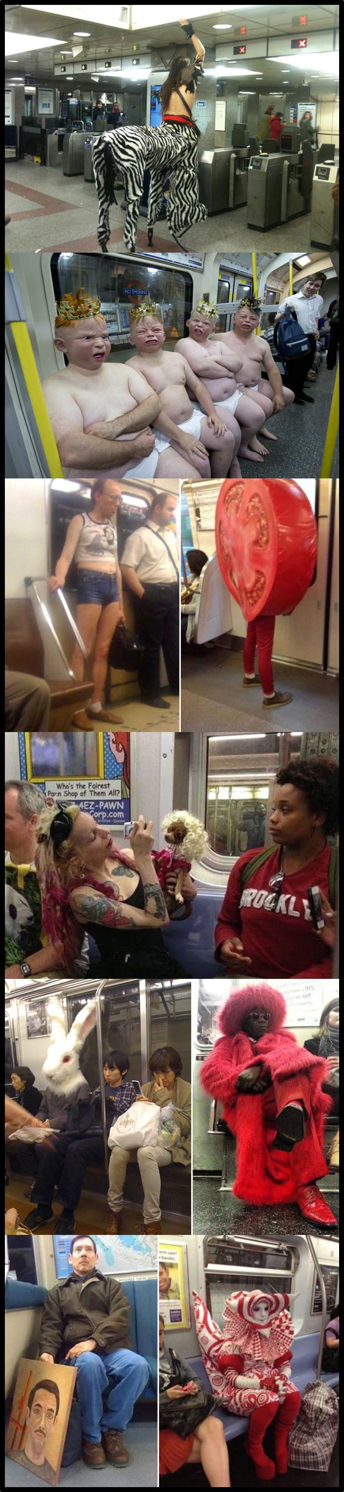 Best place to make friends. I don't always meet freaks on the underground……. Underground metro subway