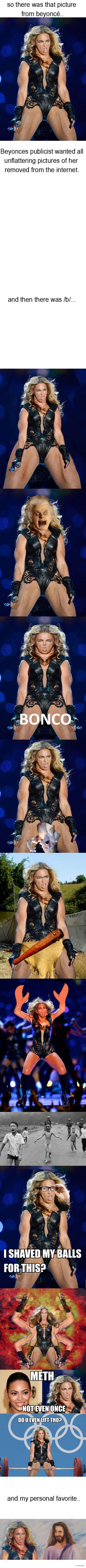 Beyoncé + /b/ =. dont look et teh tags. the game
