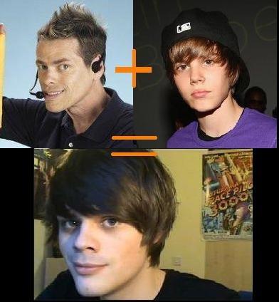 Bieber Shamwow child. this guy is definitely their child.. problem? Bieber shamwow child