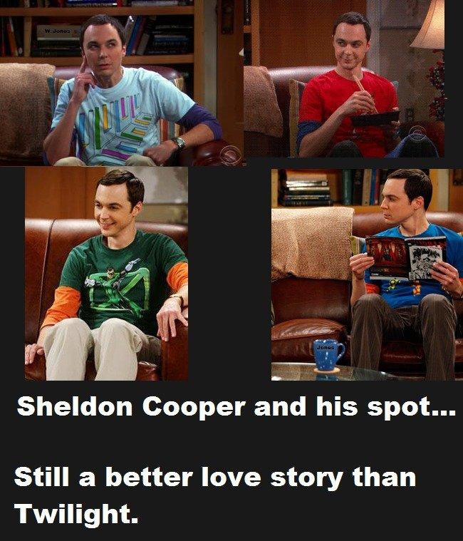 Big bang. description. Sheldon Cooper anti his spot... Still a better love story than Twilight. Big Bang theory