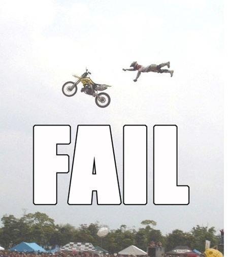 Bike fail. owwch. Bike fail owwch