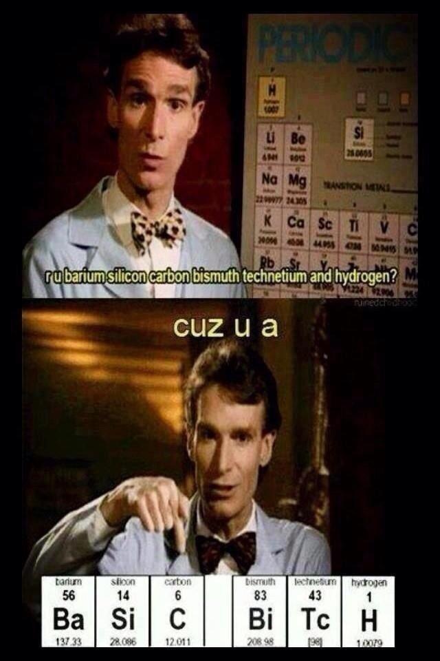 Bill Nye.. Being a bad ass.. imam ? glr.. i' htn' technetium and hydrogen? Bill Nye Being a bad ass imam ? glr i' htn' technetium and hydrogen?
