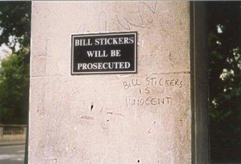 BILL STICKERS. . HILL BILL STICKERS HILL