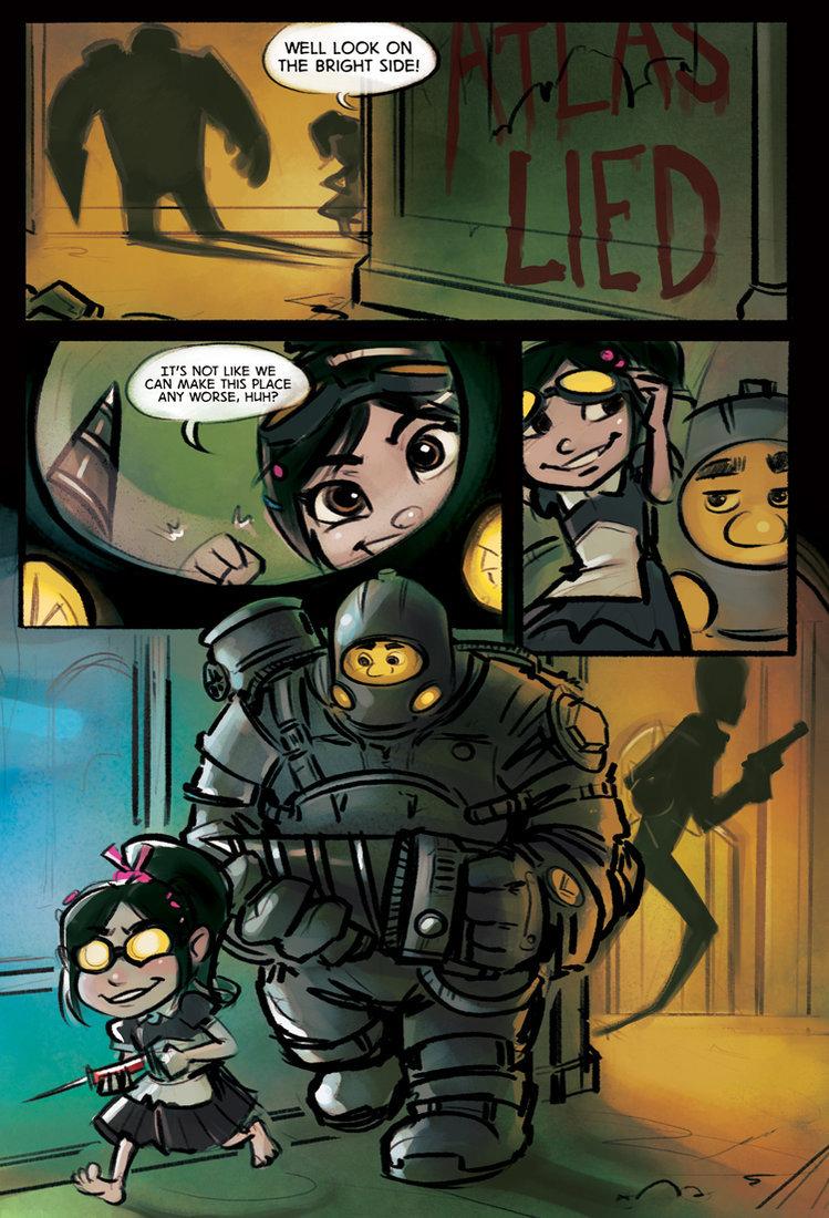 Bioshock/Wreck-it-Ralph comic. found this on tumblr.. so cyute :D gaming Bioshock