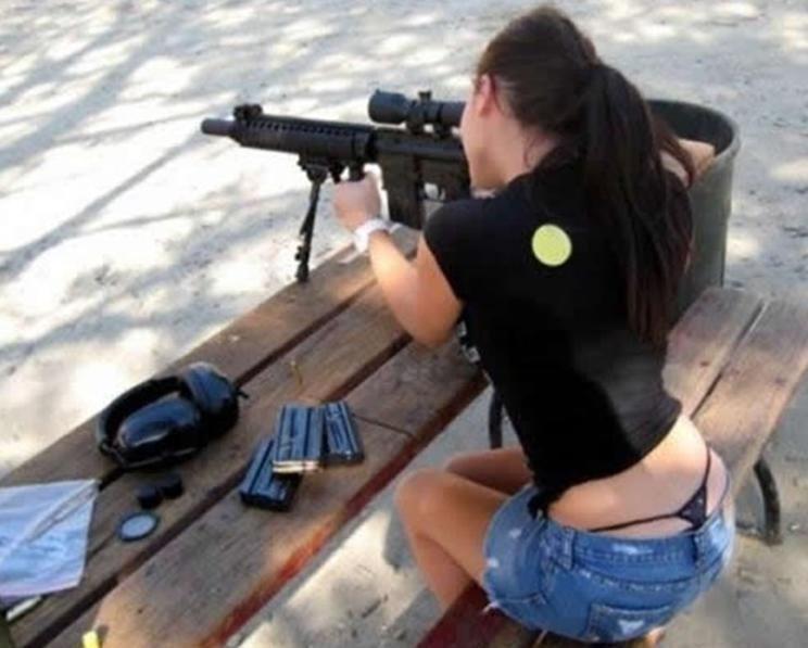 Bitches and guns. because bitches like guns.. me 2 bro, i like guns to, im a expert bitches guns