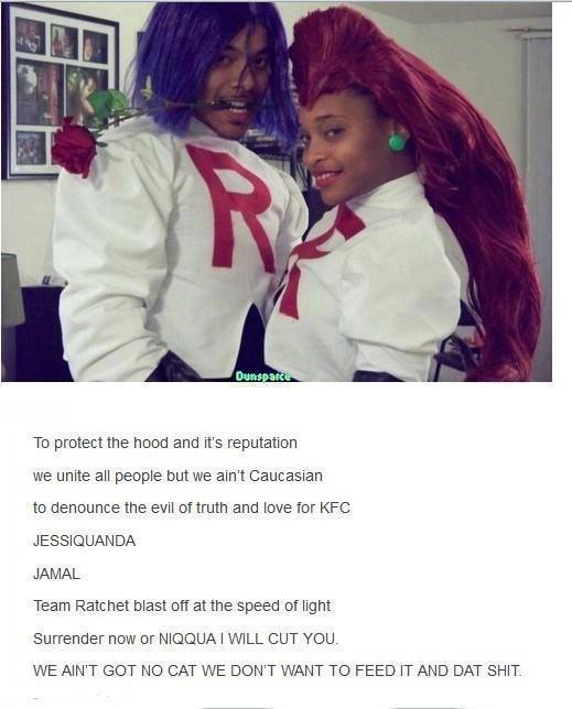 Black People.. . black people Pokemon Jessie james