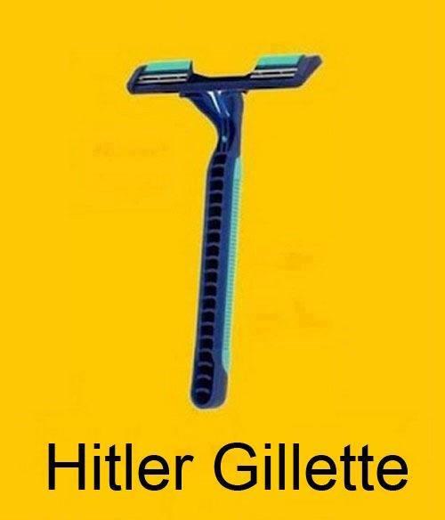 卐. . Hitler Gillette. Woops ding dong