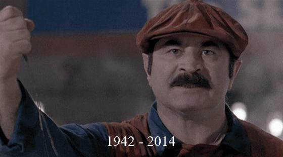 Bob Hoskins. He passed away at 71. RIP. 1942 -2014. Poor Mario Bob Hoskins RIP Mario motion pic