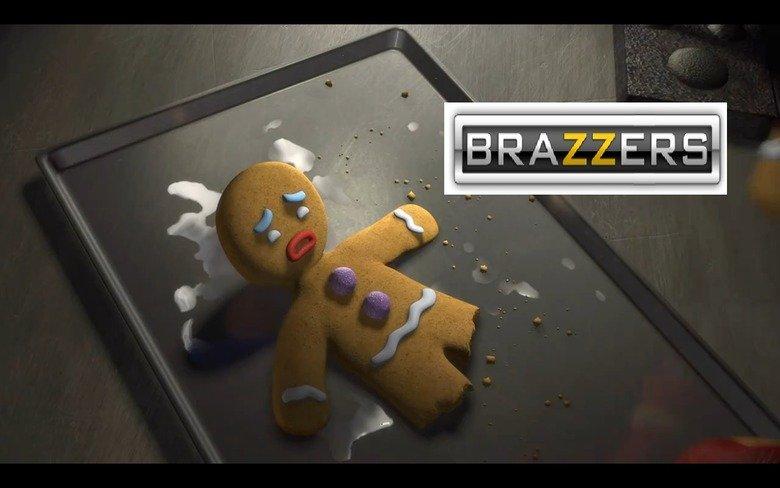 Boom no more childhood. 140% OC by me. gingerbread man Shrek