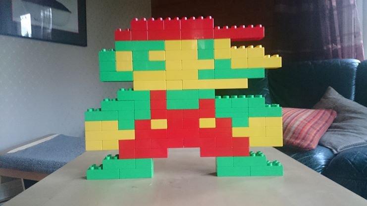 Borrowed my nephew's toys. What is lego if not pixels?. Mario Lego pixel