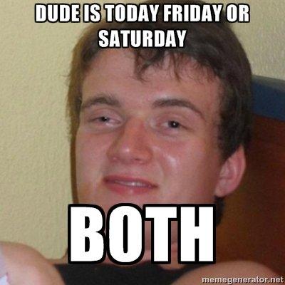 Both!. . Born m E mage murata rmt? t. sat-ur-fri-day? funny