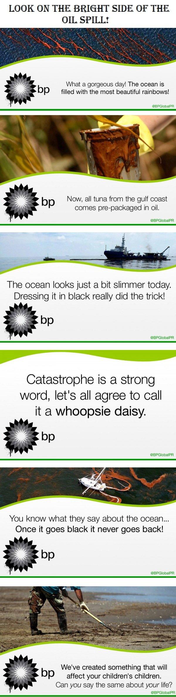 BP oil spill isn't so bad!. Part two is up!<br />. R.I.P Spongbob oil spill