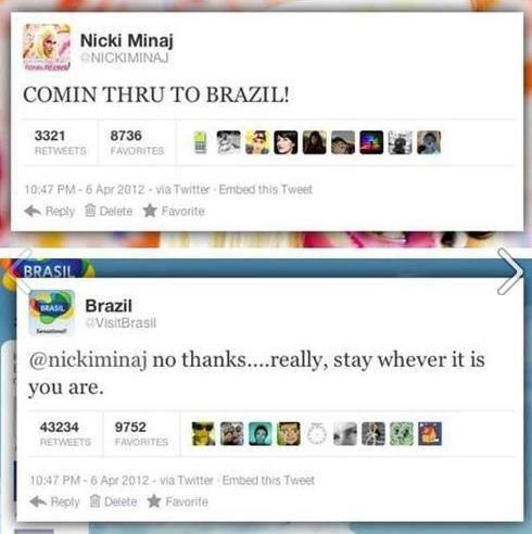 "brazil. . g' 'tr Nicki Mina) Ffl', Irs Flinn"" COMIN THRU TO BRAZIL! no , stay whever it is you are.. Brazil before she visits brazil g' 'tr Nicki Mina) Ffl' Irs Flinn"" COMIN THRU TO BRAZIL! no stay whever it is you are Brazil before she visits"