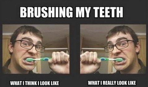 Brushing my teeth. . MY TEETH WHAT I THINK I [INK III! ' r I HEM? INK HIE Captcha answer w