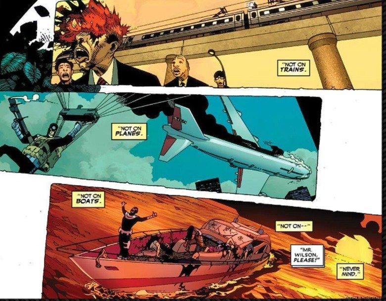 Bullseye never misses!. He doesn't!.. wade wilsons war Deadpool Bullsey