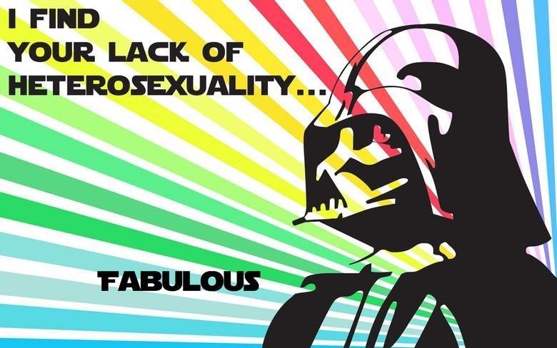Fab Vader. yupp, all hope is lost... REPOST REPOST REPOST! Darth Vader goes Gay