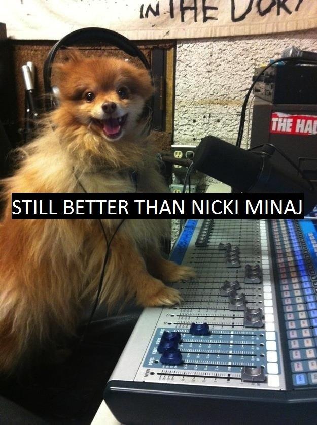 "Facebook (69). So this dog, ey?. STILL BETTER THAI) NICKI ?: Piee"" e u u 1 lulu"" ullo. qrr"" tarr"". cuz nicki minajs radio show sucks ? thats not a singing booth seoarate by commmas eg Cars crashes"