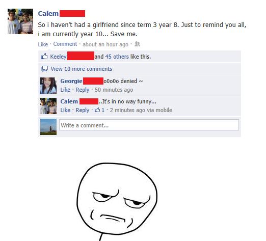 Facebook. oranges.. i dont get it see i told you