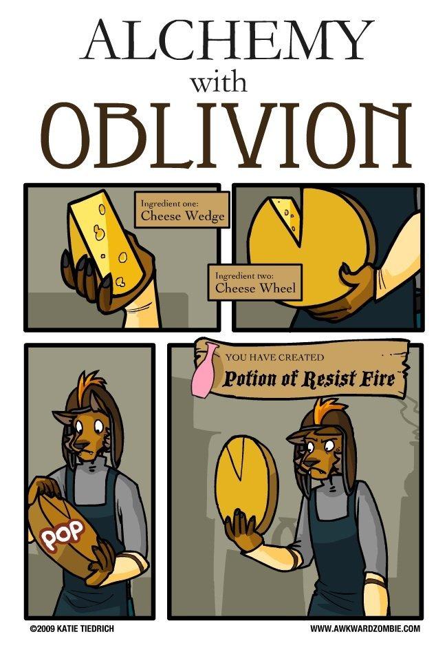 fail. . with. well that was cheesy alchemy oblivion awkward Zombie