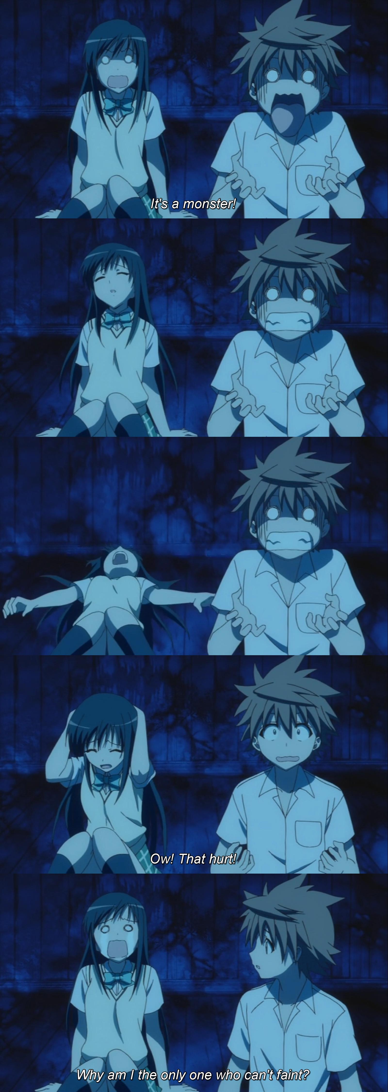 Faint. Source: To Love-Ru. Oh Hya.. toloveru Anime
