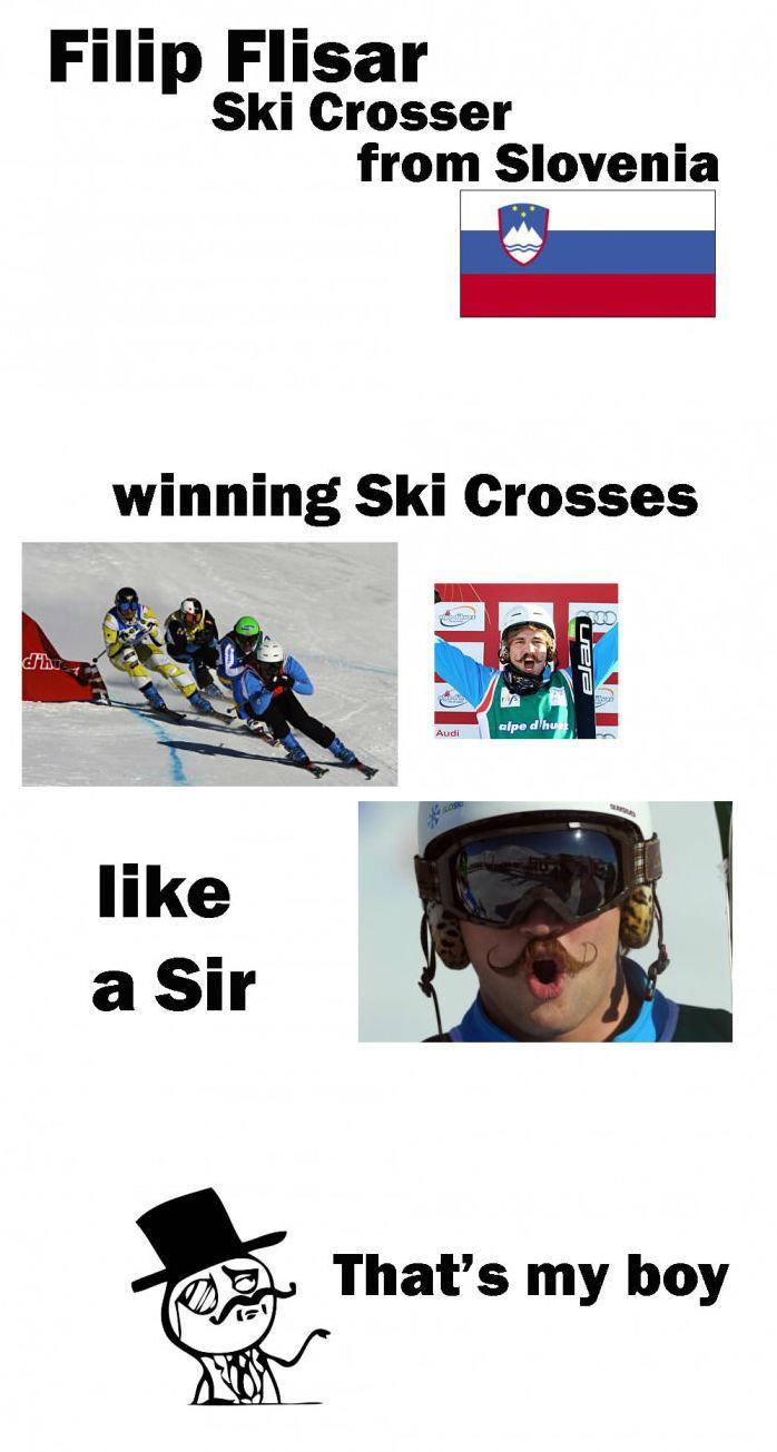 Filip Flisar. . Filip Faisal Ski Crosser from Slovenia gait winning Ski Crosses That' s my boy Filip Flisar Faisal Ski Crosser from Slovenia gait winning Crosses That' s my boy