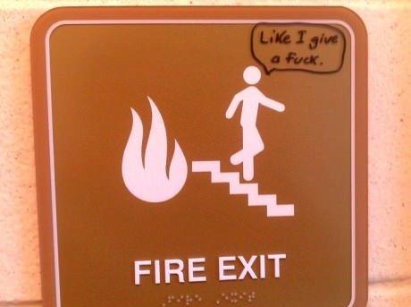 Fire Exits. . Fire Exits