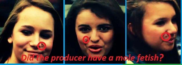 Fridays producer has a face mole fetish. The producer must have had a face mole fetish.. Guaca-mole! mole Rebecca Black friday mole fetish
