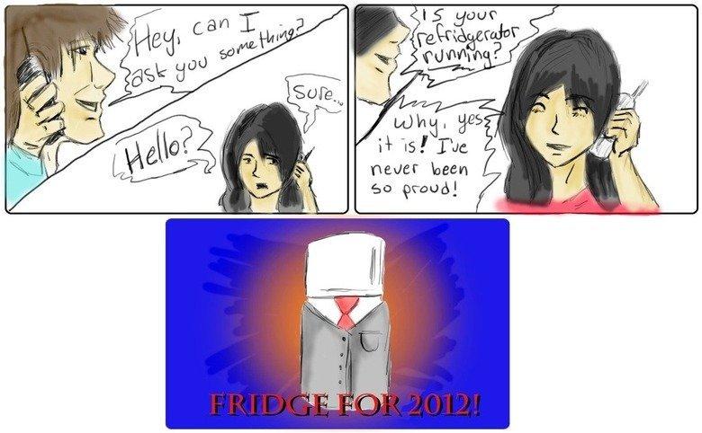 Fridge 2012!. . newer been Go grand]. Looks like a square, limbless, slenderman. Fridge 2012! newer been Go grand] Looks like a square limbless slenderman