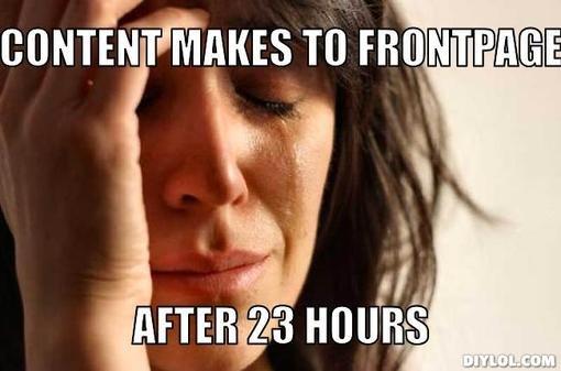Frontpage problems... D:. Frontpage problems D: