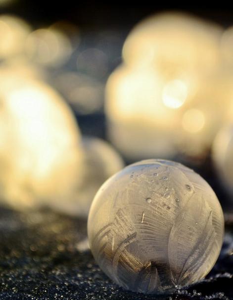 Frozen Soap Bubble. . Frozen Soap Bubble