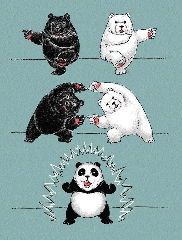 Fu-shion-HA!. .. it went horribly wrong! Dat panda