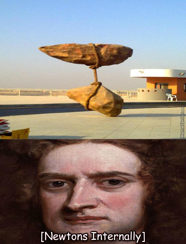 Fuck the police. .. The answer? It's an Australian design. sculpture balance Art physics Illusion Gravity