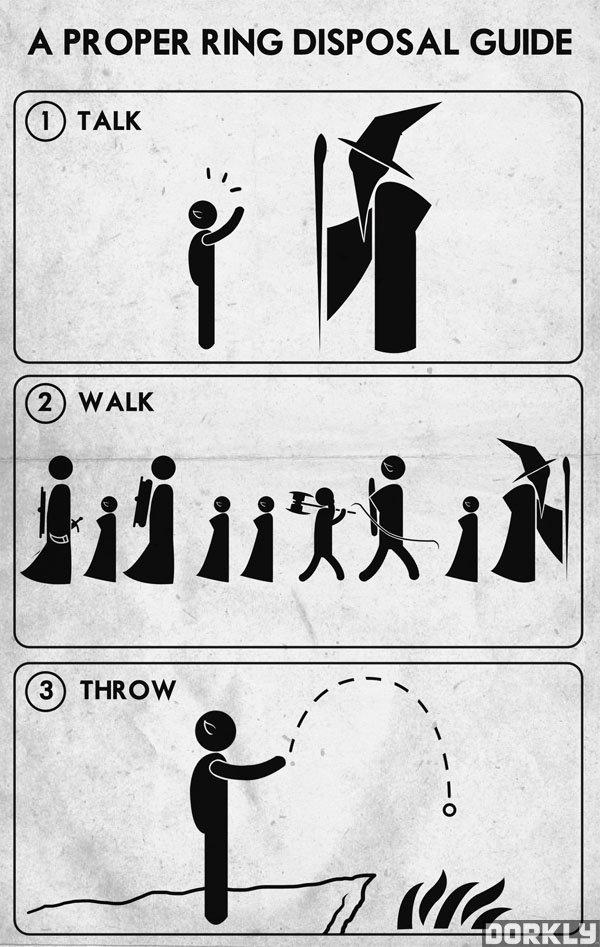 Fucking Eagles. . A PROPER RING DISPOSAL GUIDE. Step 1) Talk Step 2) Everybody Walk the Dinosaur Step 3) Unnecessary Fucking Eagles A PROPER RING DISPOSAL GUIDE Step 1) Talk 2) Everybody Walk the Dinosaur 3) Unnecessary