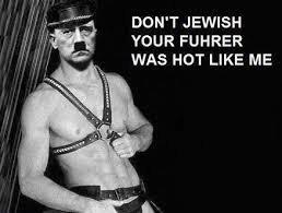 """Fuhrer. . DO WT JEWISH I"""" AIUR FUHRER WAS HUT LIKE ME. nein nein Fräulein, Sie sind ein Waran. this is the only german phrase i remember ww2 Hitler"""