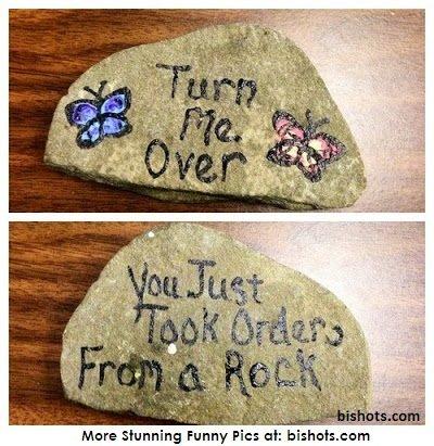 Funny Stone Message. . humor funny lol