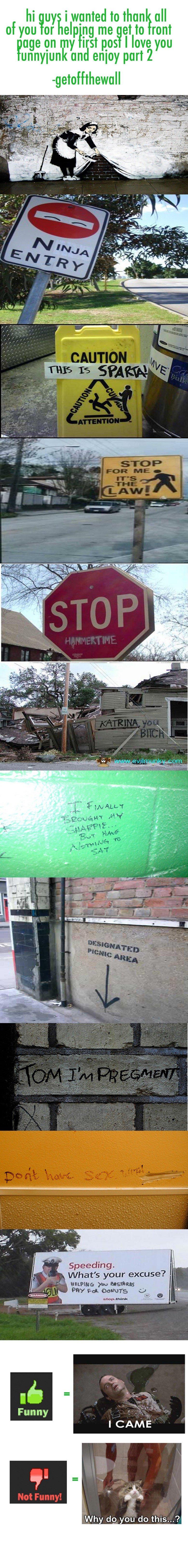 Funny Graffiti Comp. Part 2. i'll make part 3 if u guys want just ask.. :O shes pregment ! Graffiti comp Part me Gusta
