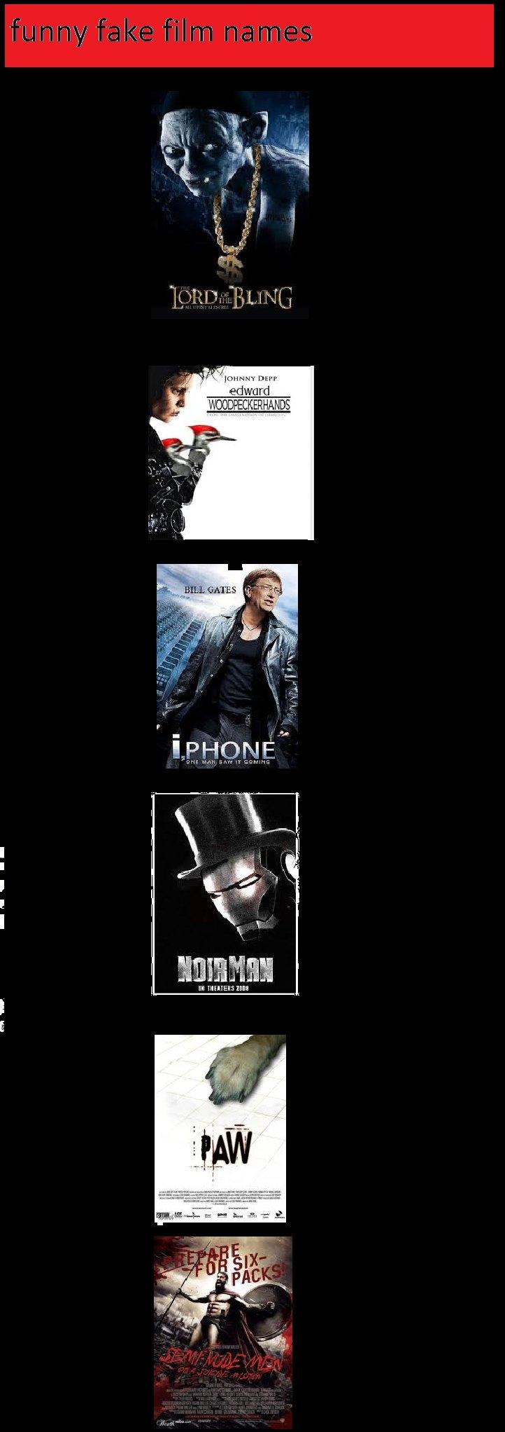funny fake film names. . In if in Paar EDIE funny fake Films