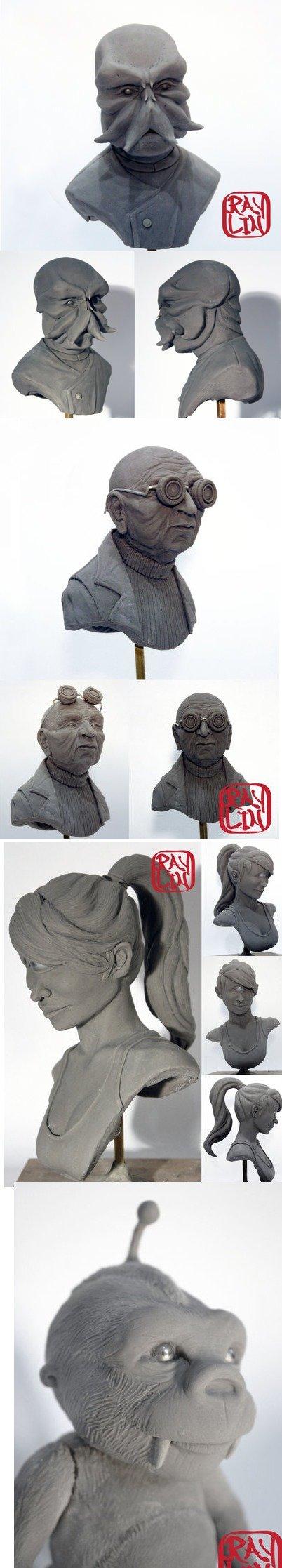 Futurama Fan Sculptures. Zoidberg, Farnsworth, Leela, Nibbler.. I couldn't resist. Futurama Fan Sculptures Zoidberg Farnsworth Leela Nibbler I couldn't resist