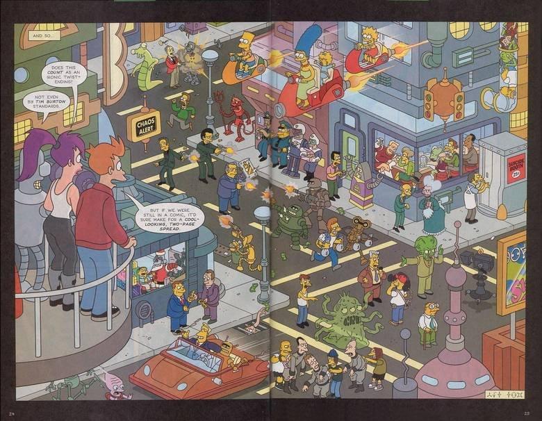 Futurama Vs. The Simpsons. Small world.. Futurama Vs The Simpsons Small world
